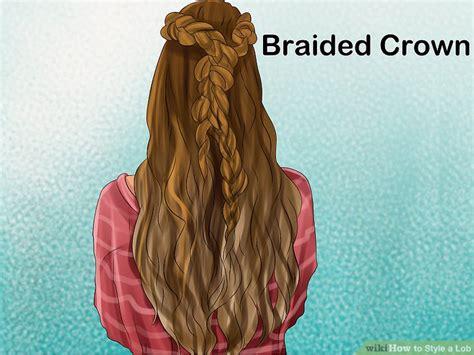 fancy braids wiki how 4 ways to style a lob wikihow