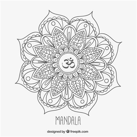 mandala coloring pages vector mandala monday free om mandala to color from freepik