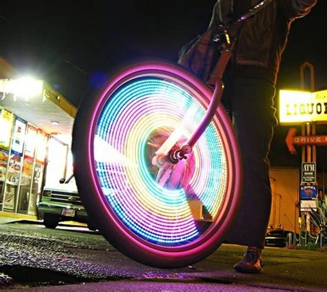 Motorcycle Wheel Lights by Monkeyletric Led Bike Wheel Lights 187 Gadget Flow