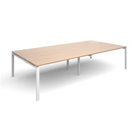 Beech Boardroom Table Adapt Ii Boardroom Table 3200x1600mm White Beech Www Mantonoffice Co Uk Furniture Workplace