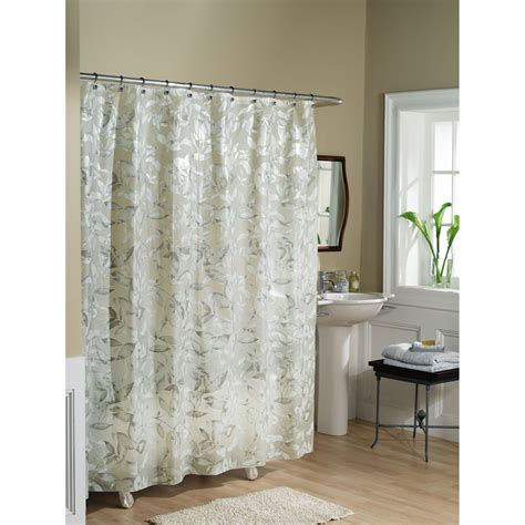 Bathroom Decor Shower Curtains Essential Home Shower Curtain Tea Leaves Vinyl Peva Home Bed Bath Bath Shower Curtains
