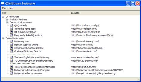 exist tutorial xml database qxmlstream bookmarks exle qt xml 5 11