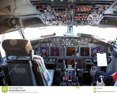 cabina di pilotaggio aereo cabina di pilotaggio di un aereo fotografia stock