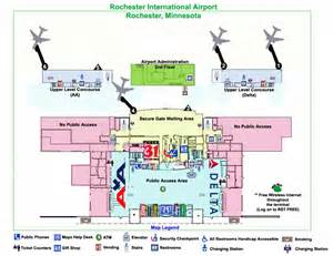 us airways map airport map of the terminal at rochester international airport