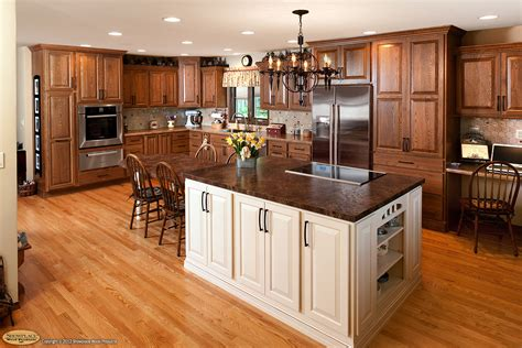 maple kitchen with island cabinets edmonton renoback com showplacewood com door style chesapeake species red
