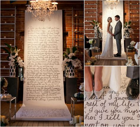 Wedding Vow Backdrop by Unique Display Ideas For Written Vows At The Wedding