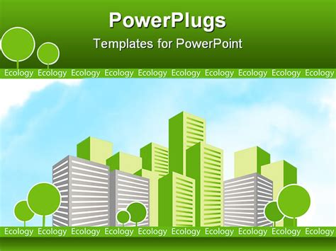 powerpoint templates free ecology green city with trees ecology concept design powerpoint
