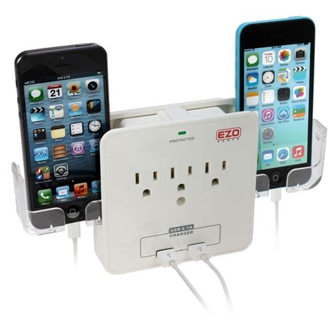 surge protector with usb charging ports 3 ac outlet wall mount surge protector w 2 usb charging