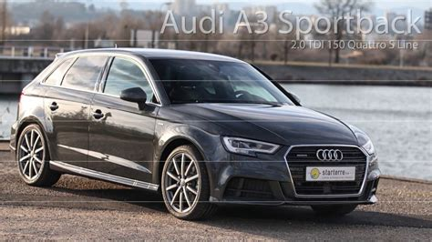 Audi A3 Sportback 3 2 Quattro by Audi A3 Sportback 2 0 Tdi 150 Quattro S Line Youtube