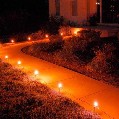 pathway christmas yard candles path lights yard stakes outdoor decorations the home depot