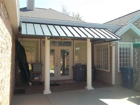Back Porch Awning by Metal Porch Awnings Large Dimensions Patio Center Can
