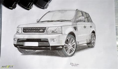 range rover sport drawing photo