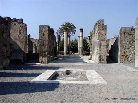 House Of The Faun Pompeii by Atrium Of The House Of The Faun Pompeii Italy