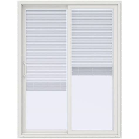 Mini Blinds For Patio Doors Stanley Doors 60 In X 80 In Sliding Patio Door With Mini Blinds 500004 The