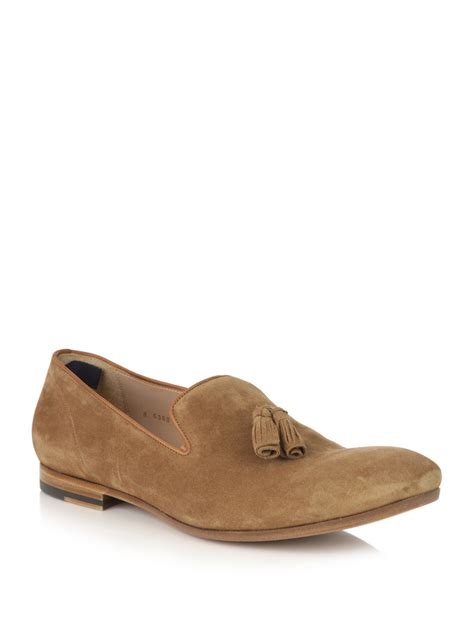 suede tassel loafers for mcqueen suede tassel loafers in brown for
