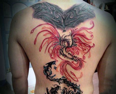 phoenix tattoo on the back 60 phoenix tattoo designs for men a 1 400 year old bird