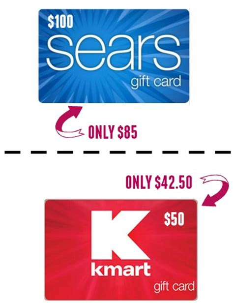 Kmart E Gift Card - 100 sears card only 85 50 kmart card only 42 50 shipped