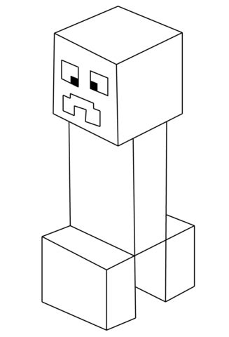 Coloriage Creeper De Minecraft Coloriages 224 Imprimer