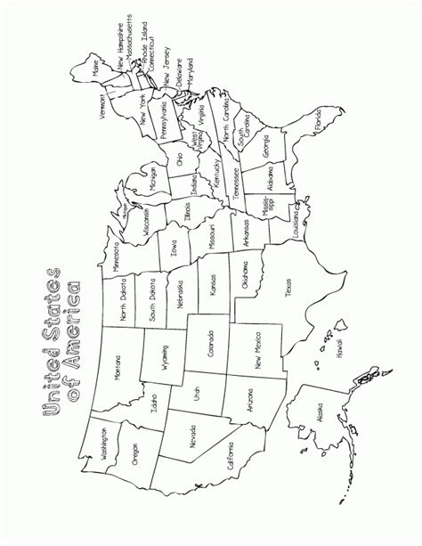 coloring book map of us united states map coloring page coloring home