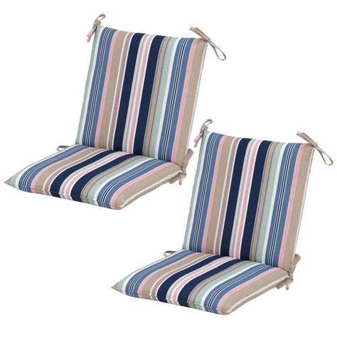Patio Chair Cushions Mid Back Hton Bay Hudson Stripe Mid Back Outdoor Dining Chair
