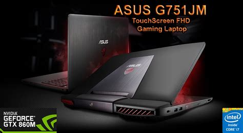 Asus Rog G751jm A 17 Inch Laptop wts brand new asus rog 751jm exclusive touchscreen model below retail price save 500