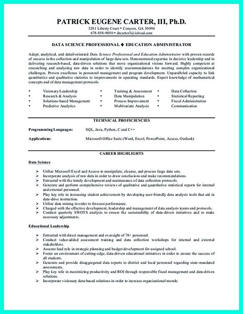 Exelent Data Scientist Resume Pattern Resume Exles By