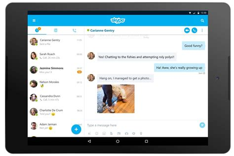 skype for android tablet skype gains a refreshed interface and new features on android tablets android central