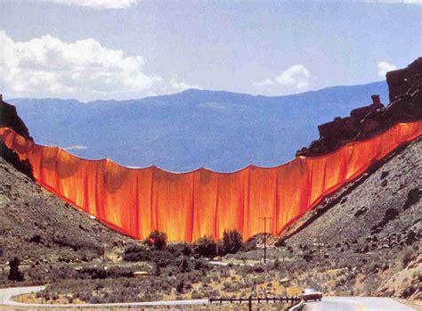 valley curtain christo curtain valley rideau colorado christo la boite verte
