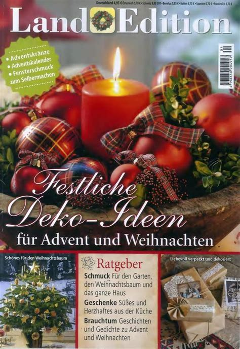 Deko Ideen Advent by Land Edition Ratgeber 4 2015 Quot Festliche Deko Ideen F 252 R