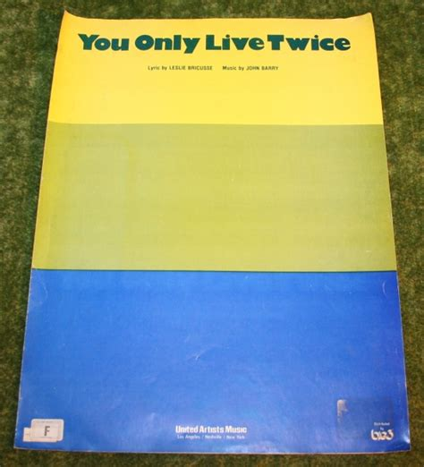 theme music you only live twice you only live twice sheet music little storping museum
