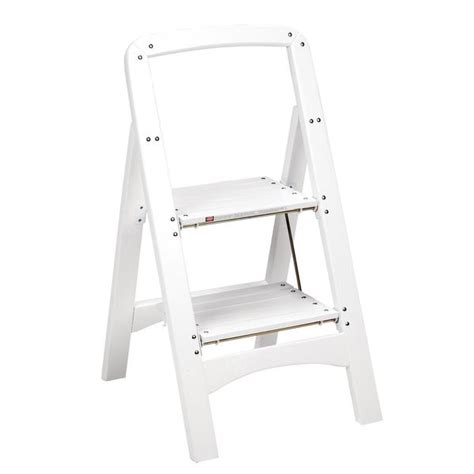 Cosco White Two Step Rockford Wood Step Stool shop cosco white two step rockford wood step stool free