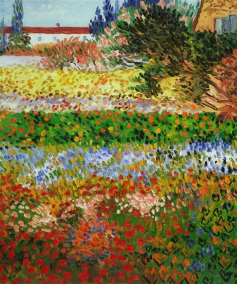 Van Gogh Flowering Garden With Path Modern Prints Gogh Flowering Garden