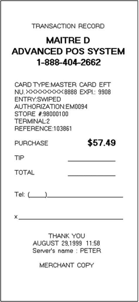 credit card receipt form template 9 credit card receipt marital settlements information