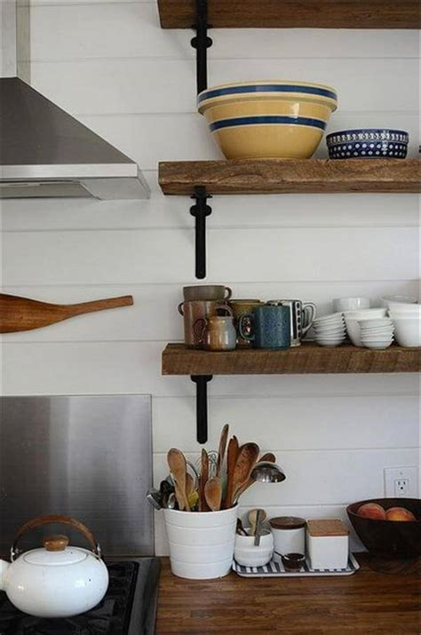 kitchen wall shelving 12 diy wooden shelves made from pallets pallet furniture diy
