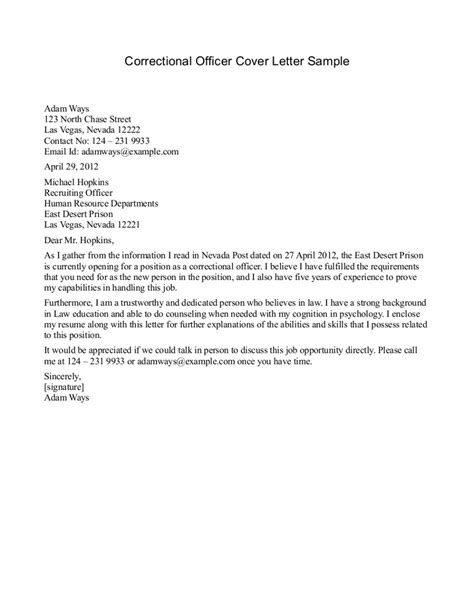Recommendation Letter In Field letter of recommendation for correctional officer