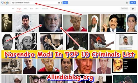Search For In The World Narendra Modi In Quot Top 10 Criminals In The World Quot Search Results Shocking News