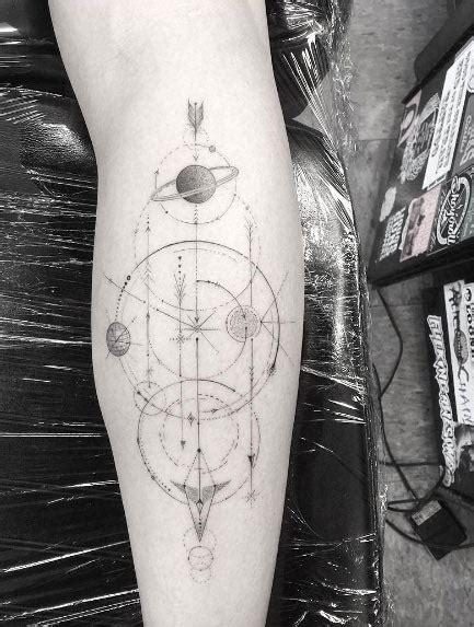 universe tattoo pinterest geometric space tattoo by doctor woo tattoos on women