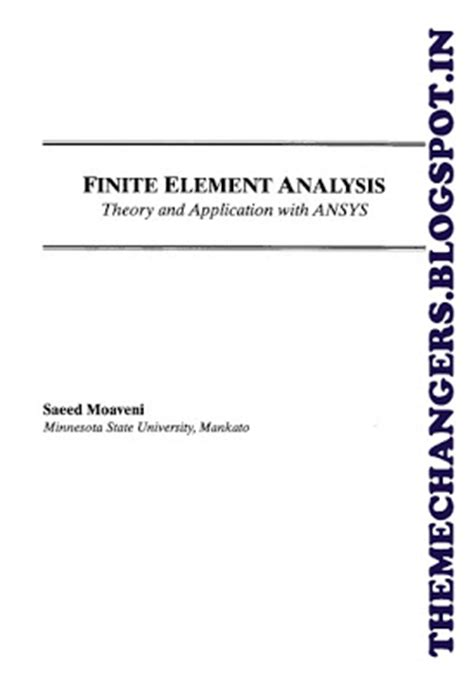 Finite Element Analysis Theory And Application With Ansys 4ed ebook finite element analysis theory and applications