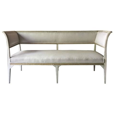 gustavian settee 19th century swedish gustavian style sofa settee at 1stdibs