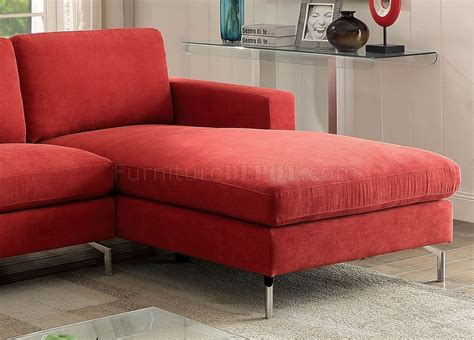 red fabric sectional kallie ii sectional sofa cm6849 in red flannelette fabric