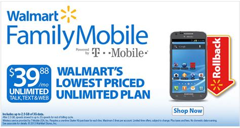 walmart family mobile no contract low price cell phone