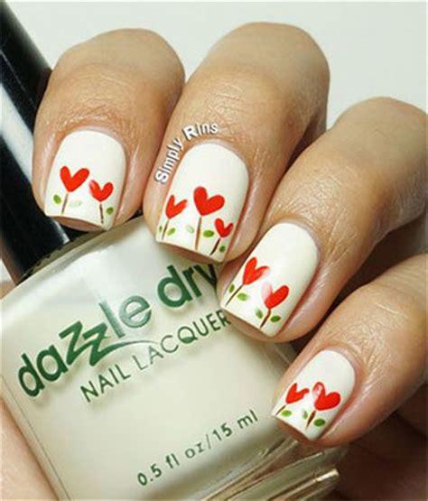 easy nail art heart simple heart tip nail art designs ideas for valentine s