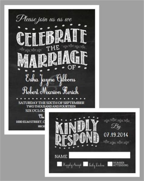 new free printable chalkboard vintage invitation suite