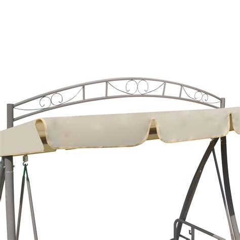swing chair bed beige outdoor swing chair bed canopy patterned arch sand
