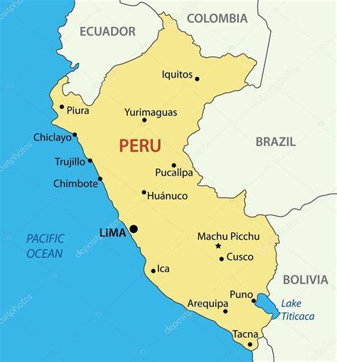 peru on a map per 249 capitale mappa