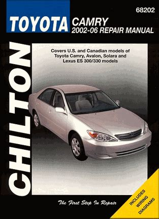 chilton car manuals free download 2006 toyota camry solara head up display lexus es300 330 toyota camry avalon solara repair manual 2002 2006