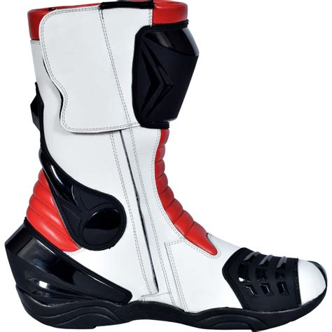 white motorbike boots motorbike racing sport boots colour white black yellow