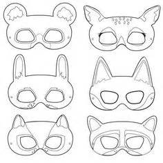 printable raccoon mask template forest animal masks printables craft ideas diy