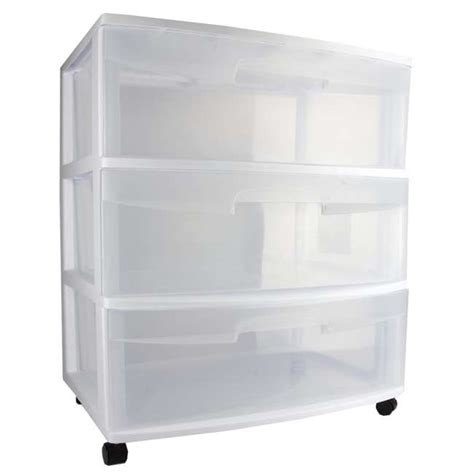 sterilite storage drawers sterilite 3 drawer wide storage container 29308001