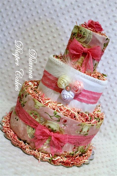 shabby chic baby gifts shabby chic baby cake shower gift or centerpiece by